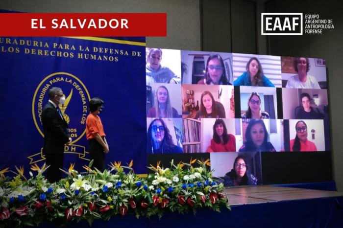 La Procuraduría para la Defensa de los Derechos Humanos de El Salvador entregó al EAAF el Premio Nacional a la Promoción y Defensa de los Derechos Humanos 2020.