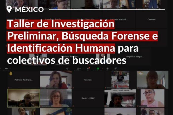 Taller de investigación preliminar, búsqueda forense e identificación humana destinado a colectivos de buscadores