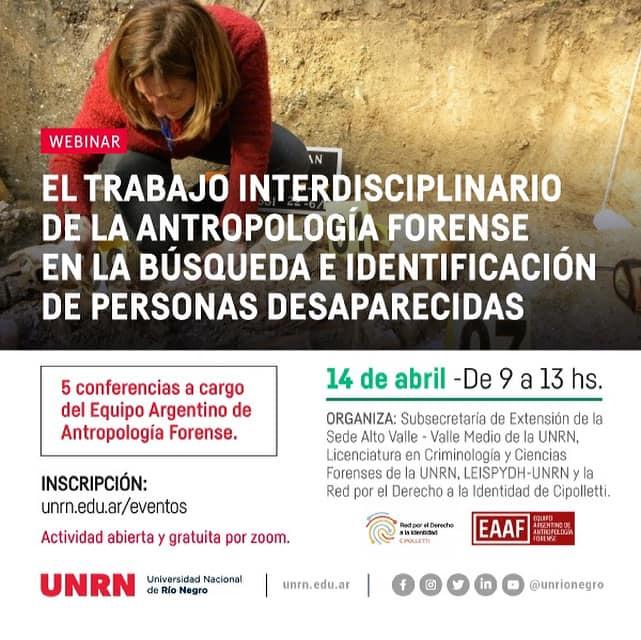 El trabajo interdisciplinario de la antropología forense en la búsqueda e identificación de personas desaparecidas