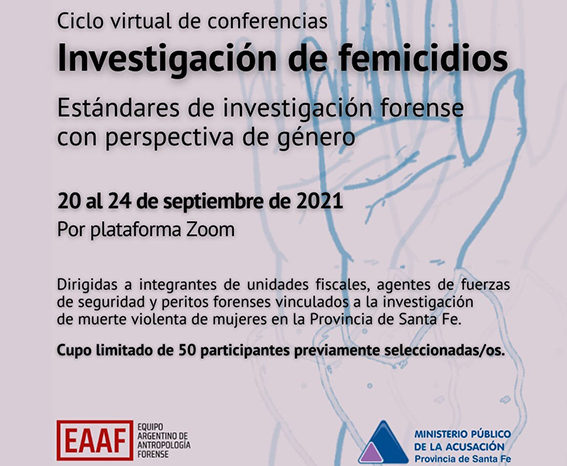 Capacitación virtual sobre la investigación de femicidios
